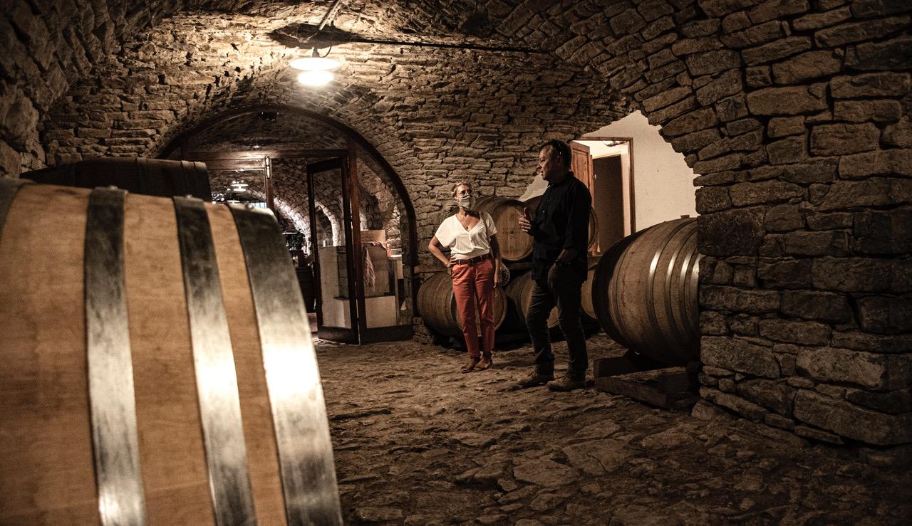 Pic SL Domaine de Cazeneuve visite avec André C